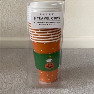 Peanuts Snoopy and Woodstock travel mug